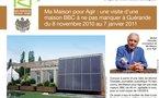 Ma Maison pour Agir : une visite d'une maison BBC à ne pas manquer à Guérande du 8 novembre 2010 au 7 janvier 2011. Pour toute information, cliquer sur le blason Guérande